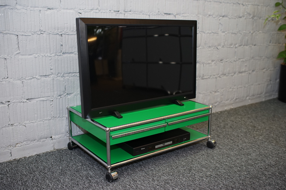 USM Haller Lowboard 750 mit 2 Schubladen A7 grün
