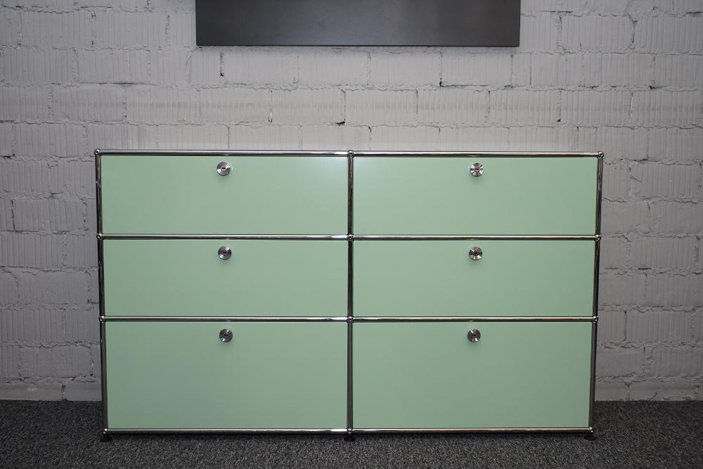 USM Haller Sideboard im Retro Design weißgrün (Sonderfarbe)