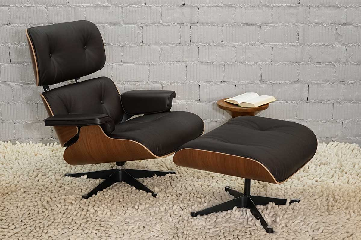 Astonishing Vitra Lounge Chair Ottoman Nussbaum Schwarz Pigmentiert Leder Chocolate Neue Masse Short Links Chair Design For Home Short Linksinfo
